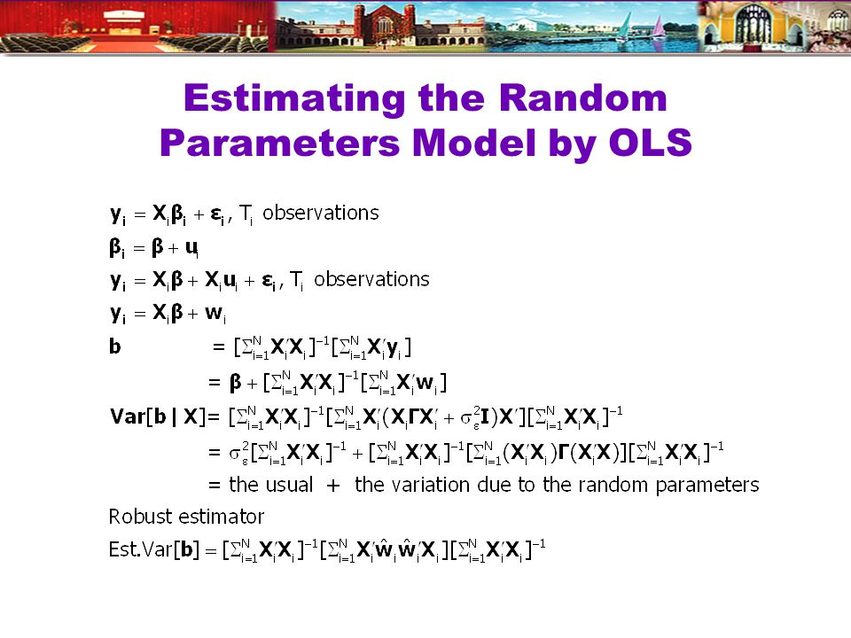 Estimating the Random Parameters Model by OLS
