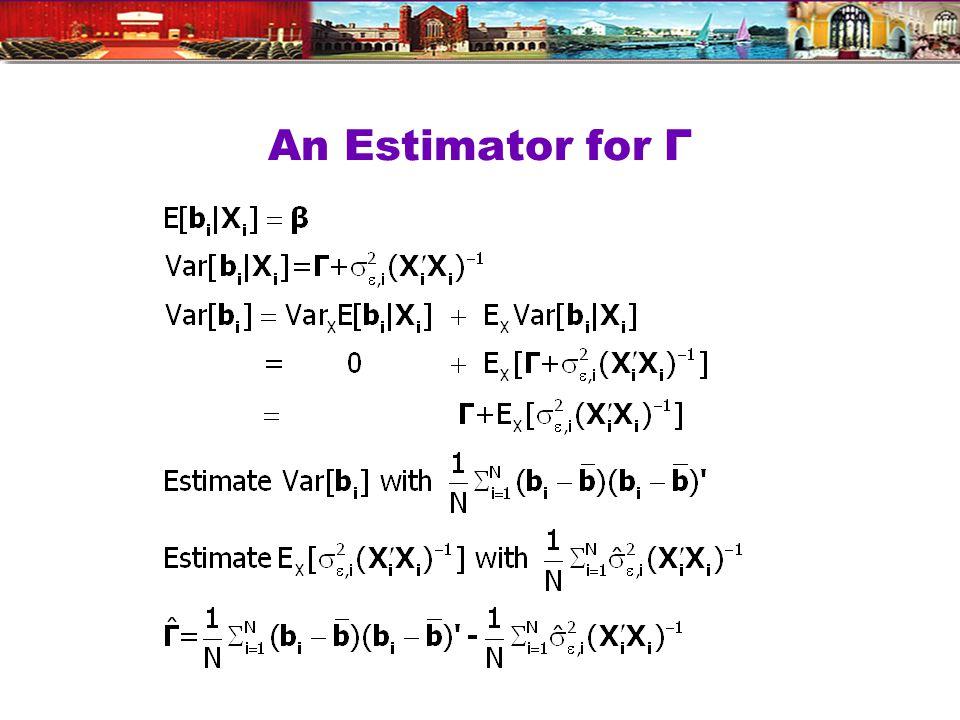 An Estimator for Γ