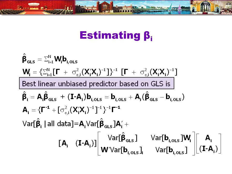 Estimating β i