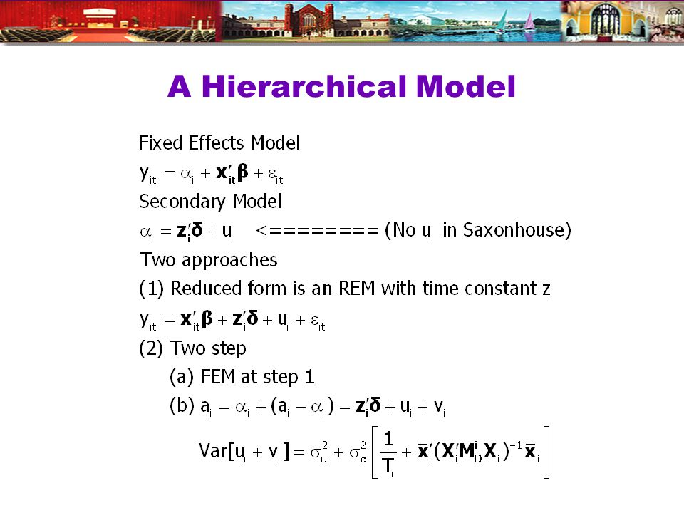 A Hierarchical Model