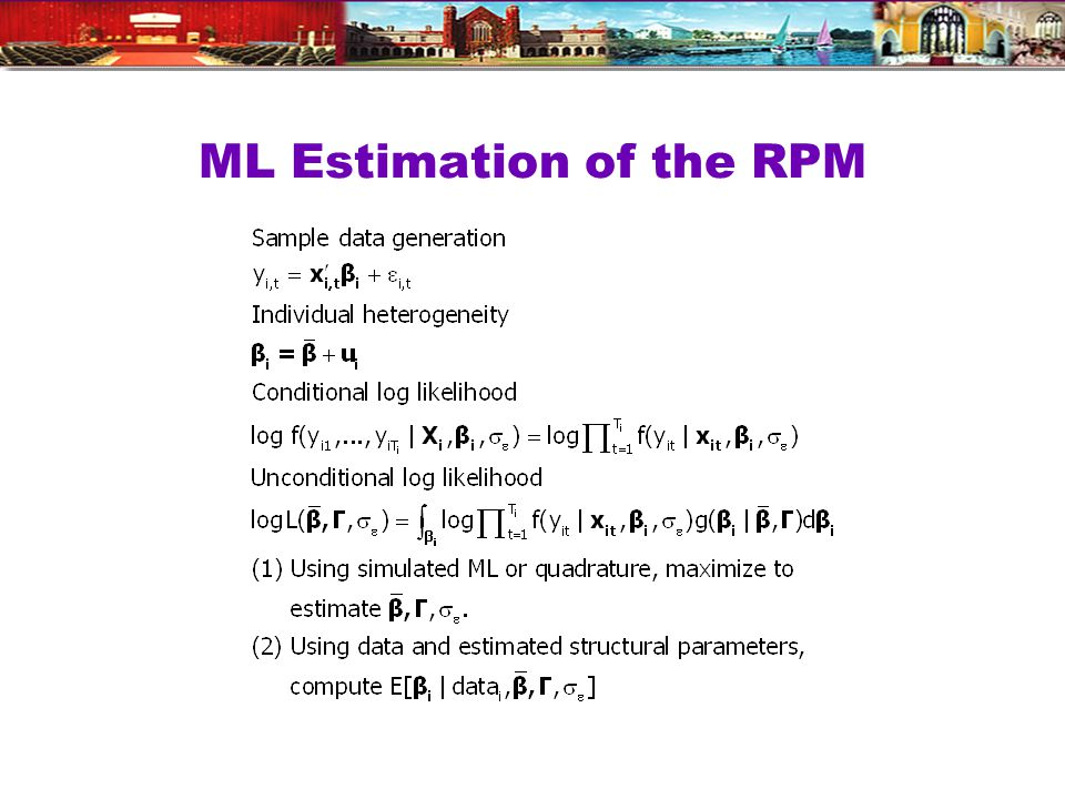 ML Estimation of the RPM