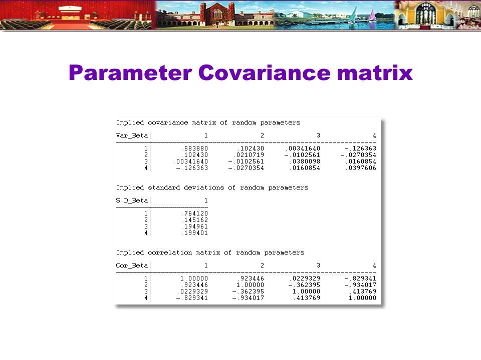 Parameter Covariance matrix