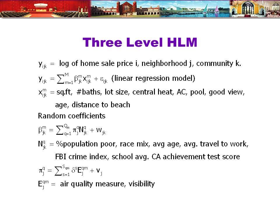 Three Level HLM
