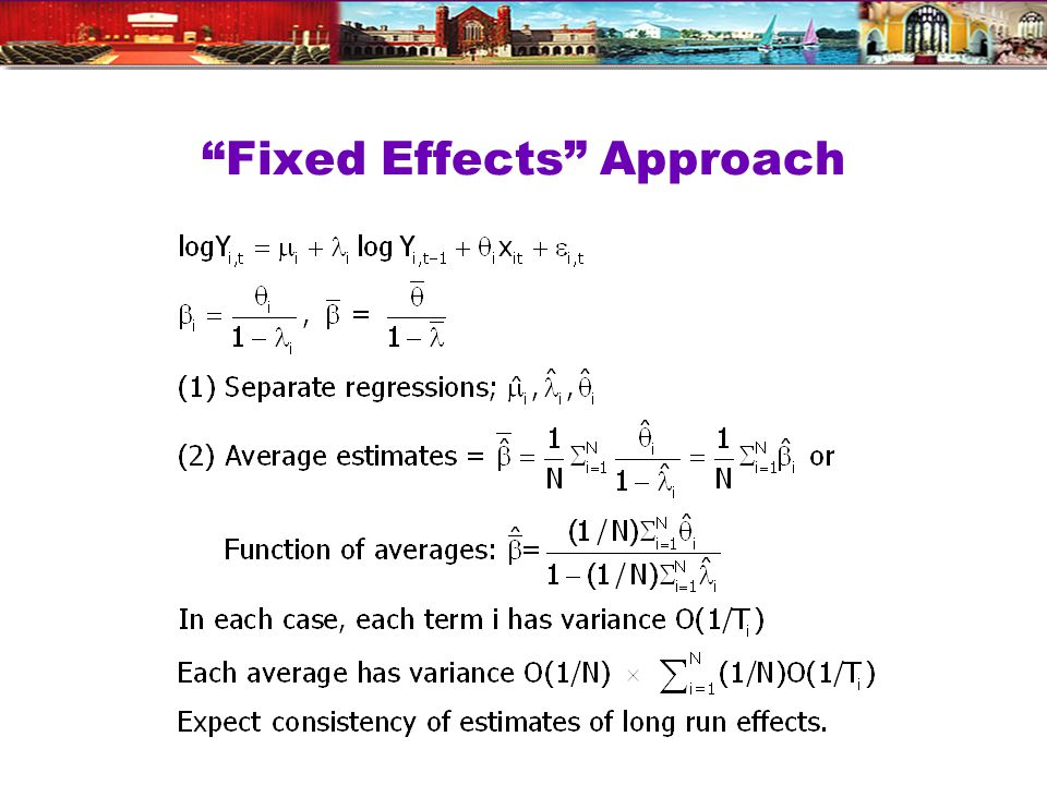 Fixed Effects Approach