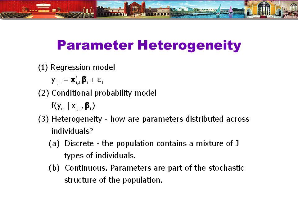 Parameter Heterogeneity