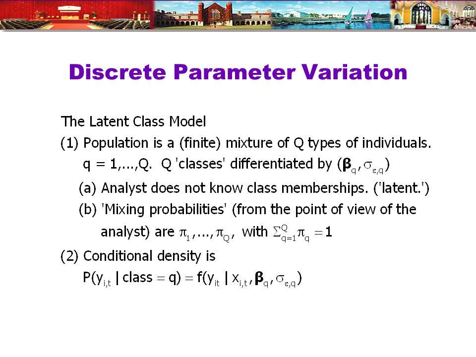 Discrete Parameter Variation