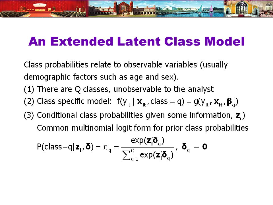 An Extended Latent Class Model