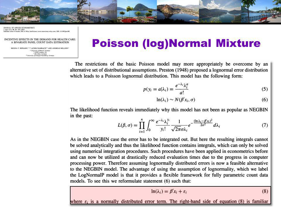 Poisson (log)Normal Mixture