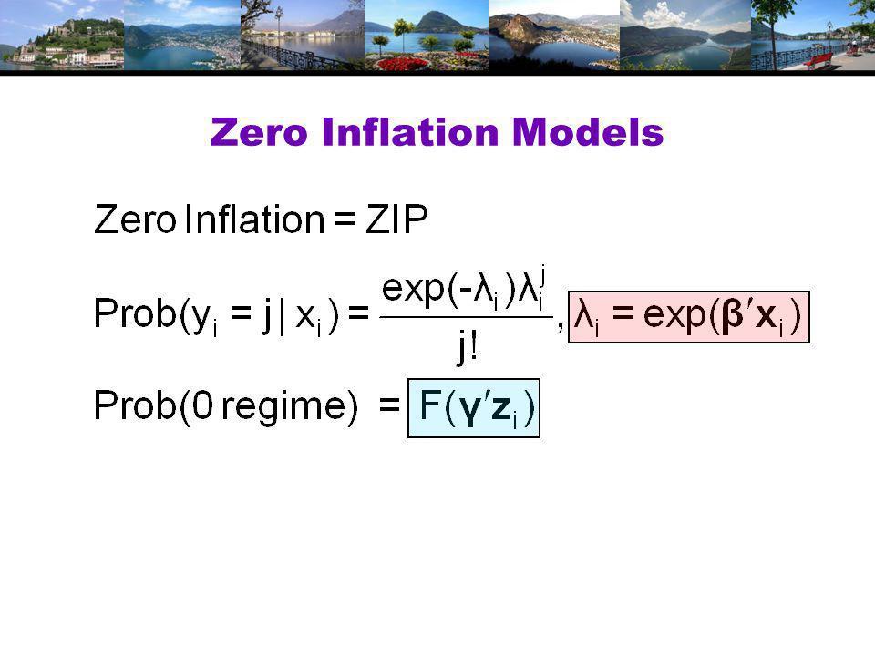 Zero Inflation Models
