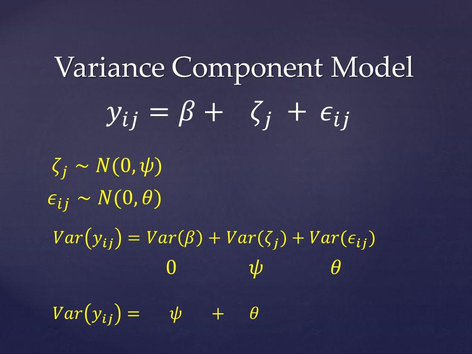 Variance Component Model