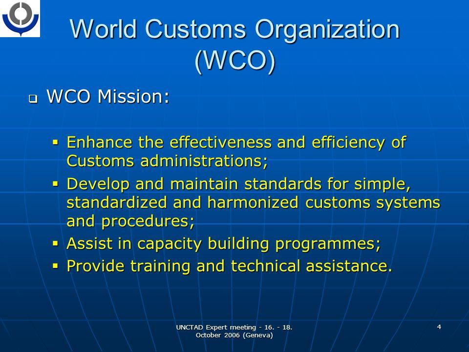 UNCTAD Expert meeting - 16.- 18. October 2006 (Geneva) 5 Trade Facilitation vs.