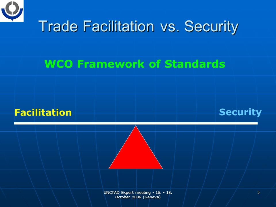UNCTAD Expert meeting - 16. - 18. October 2006 (Geneva) 5 Trade Facilitation vs.