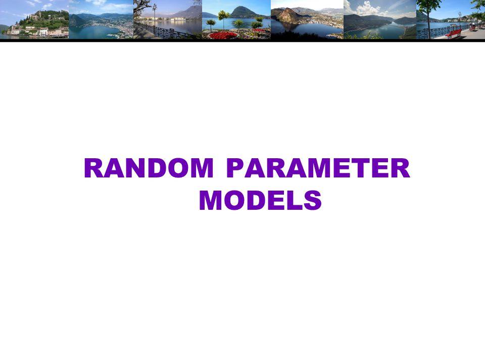 RANDOM PARAMETER MODELS