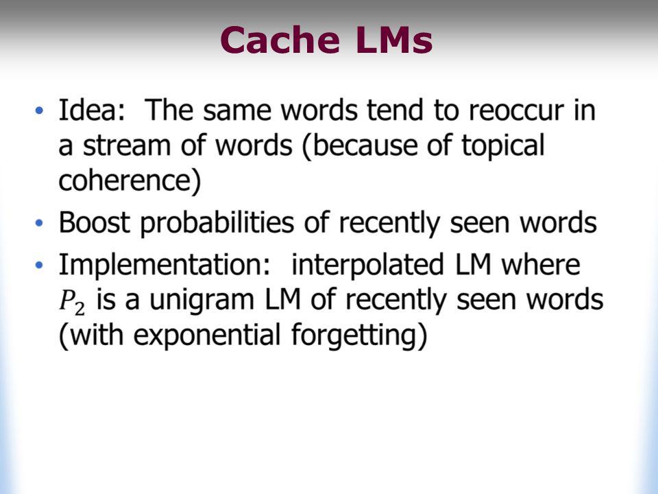 Cache LMs