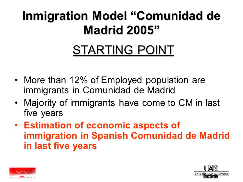 TOTAL IMMIGRANTS ESTIMATION FORMAL ECONOMY INFORMAL ECONOMY EMPLOYMENT & WAGES PADRÓNREGULARIZ.