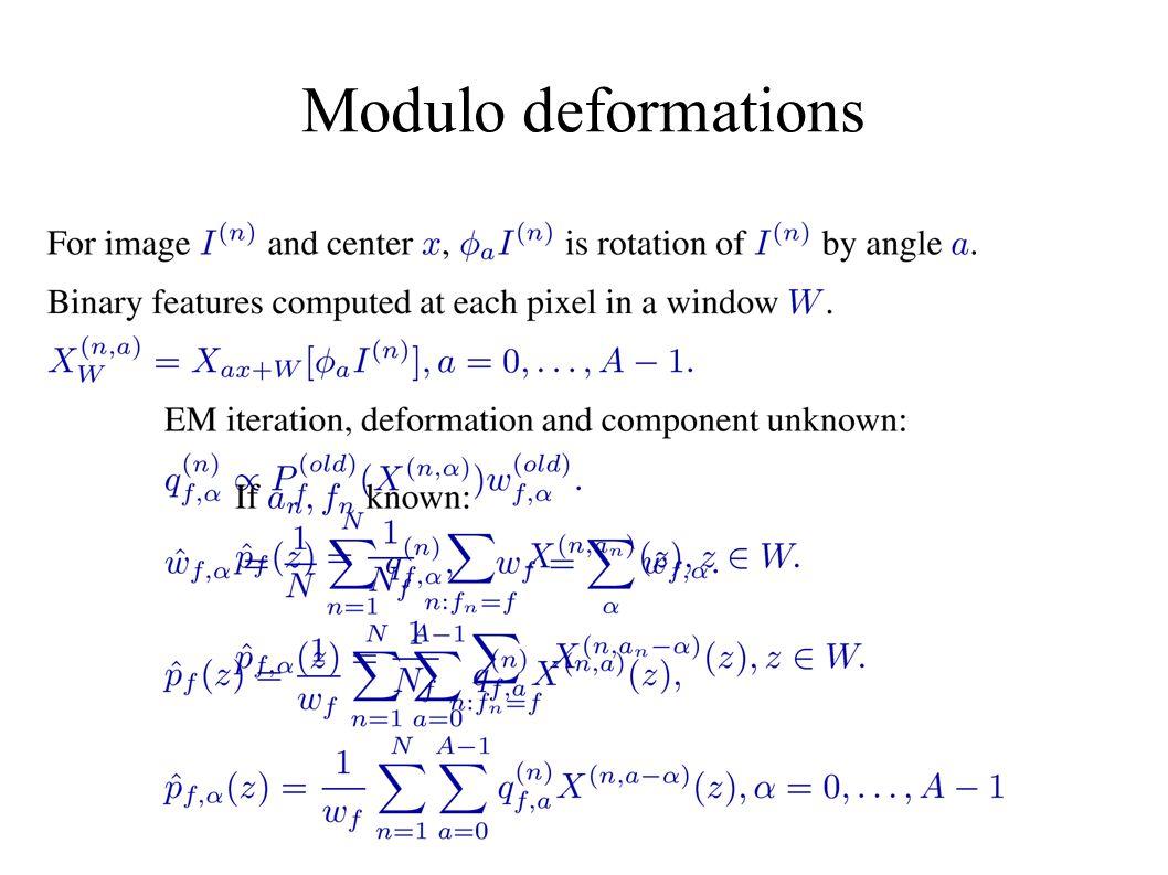Modulo deformations