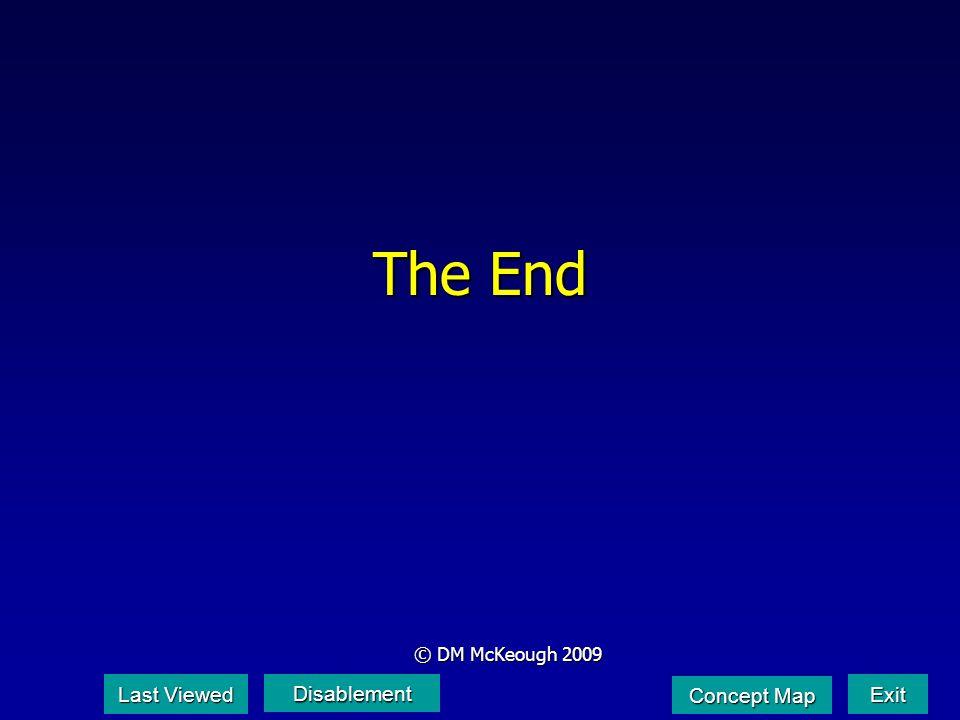 The End © DM McKeough 2009 Last Viewed Last Viewed Disablement Exit Concept Map Concept Map