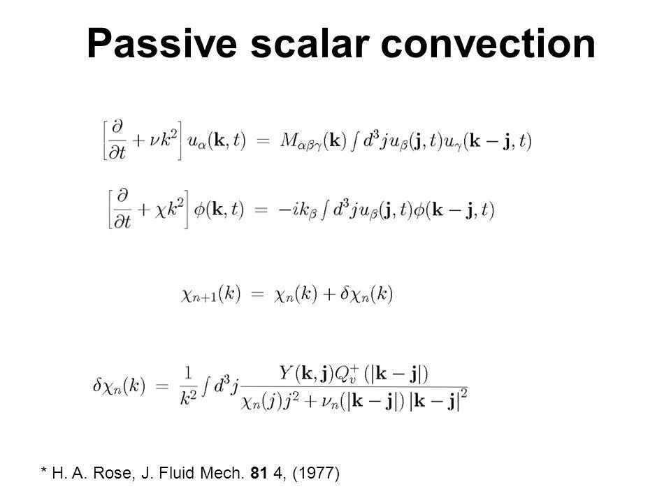 Passive scalar convection * H. A. Rose, J. Fluid Mech. 81 4, (1977)