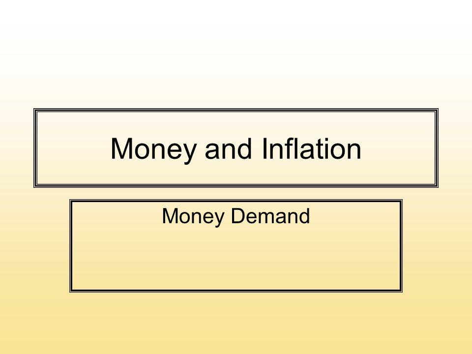 Money and Inflation Money Demand