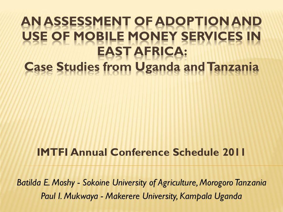 IMTFI Annual Conference Schedule 2011 Batilda E.