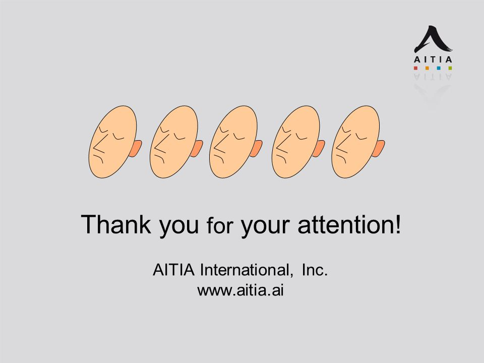 Thank you for your attention! AITIA International, Inc.