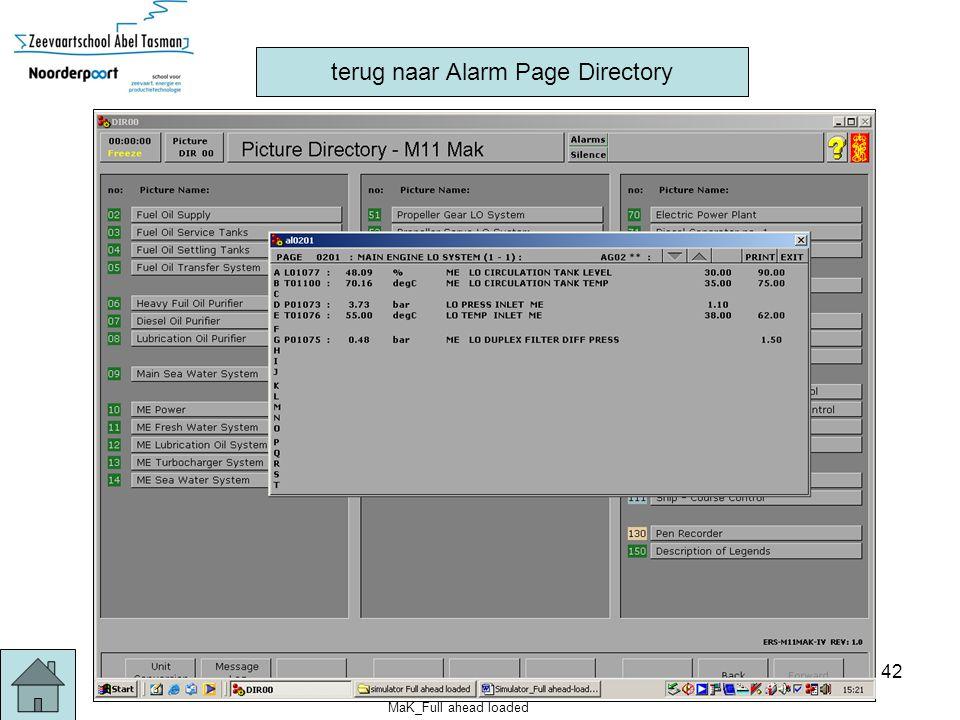 MaK_Full ahead loaded 42 terug naar Alarm Page Directory