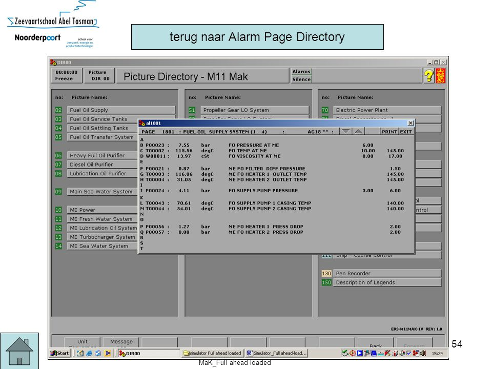 MaK_Full ahead loaded 54 terug naar Alarm Page Directory