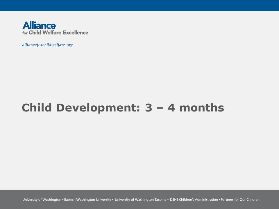 Child Development: 3 – 4 months