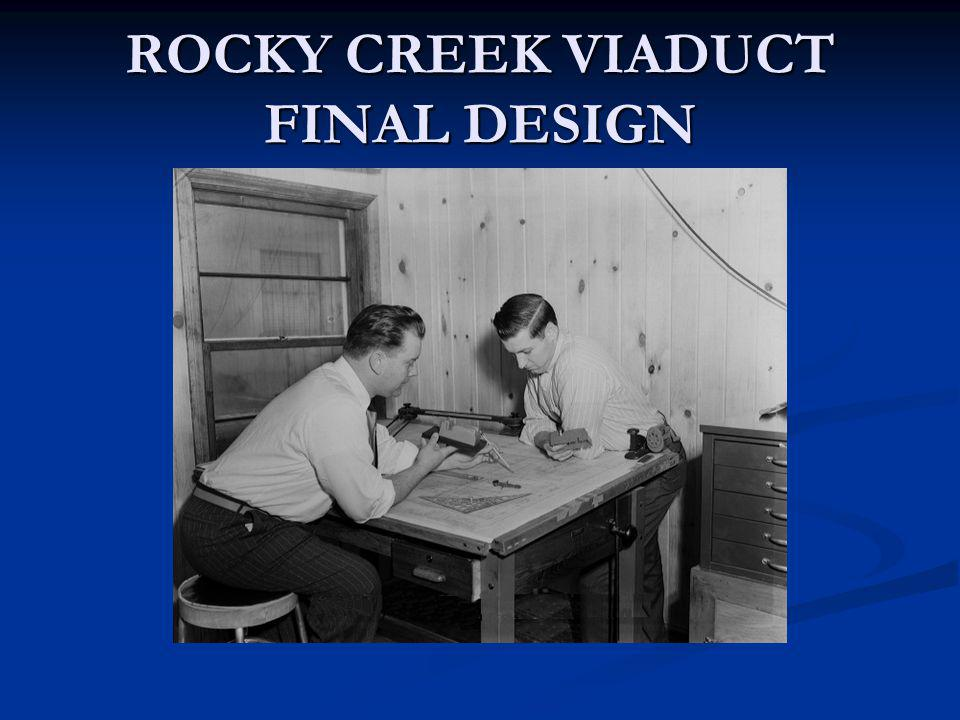 ROCKY CREEK VIADUCT FINAL DESIGN