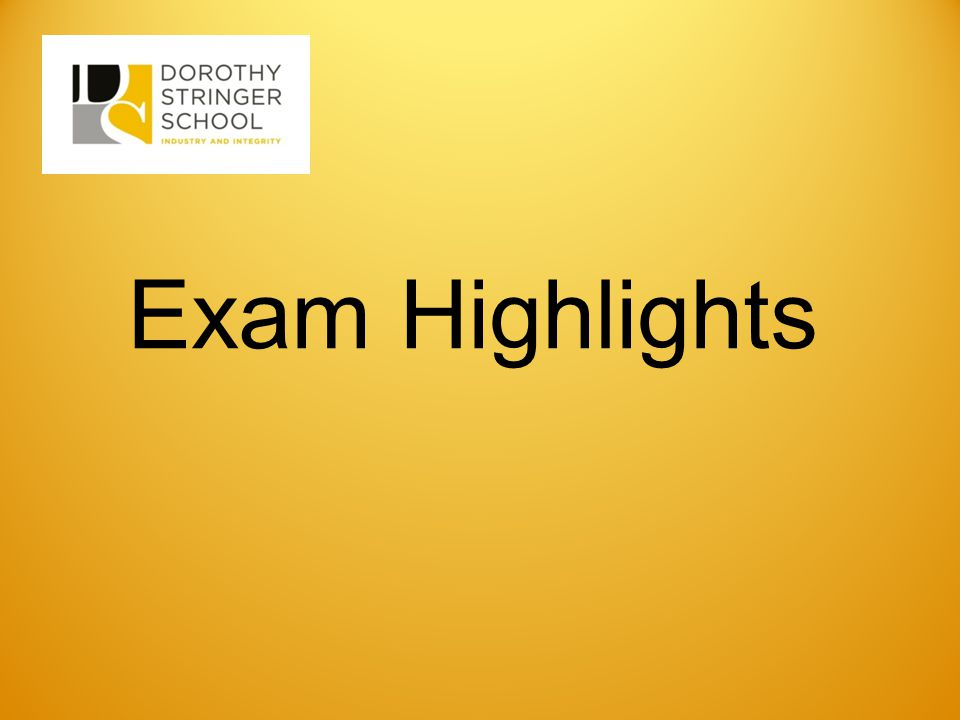 Exam Highlights