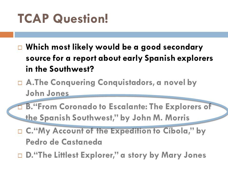 TCAP Question.