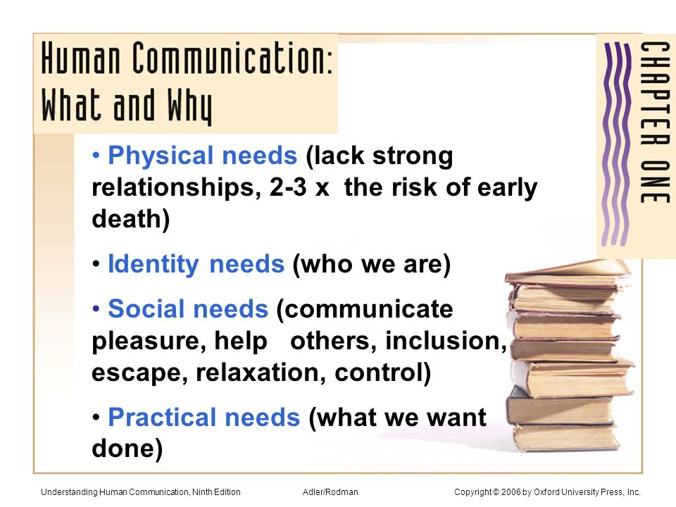 Communication doesn't always require complete understanding: How's it going.