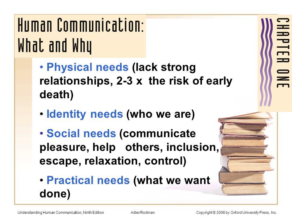 Communication skills: #1 characteristic employers want Understanding Human Communication, Ninth Edition Adler/Rodman Copyright © 2006 by Oxford University Press, Inc.