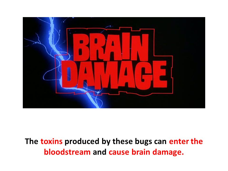 The toxins produced by these bugs can enter the bloodstream and cause brain damage.