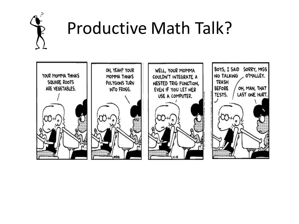 Productive Math Talk?