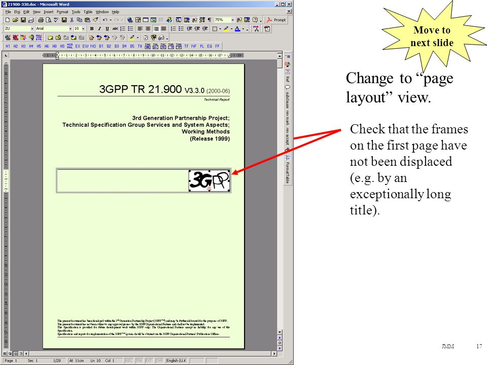 JMM17 Change to page layout view.