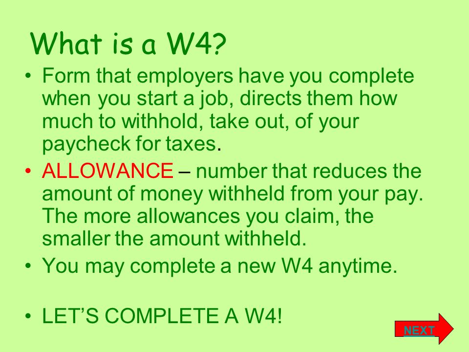 What is a W4.