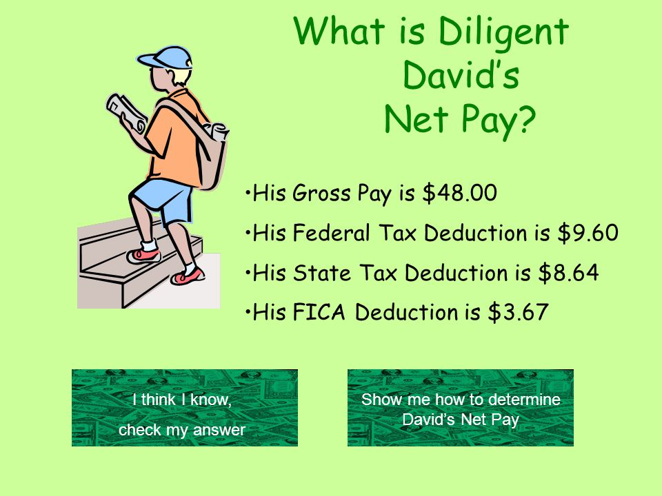 What is Diligent David's Net Pay.