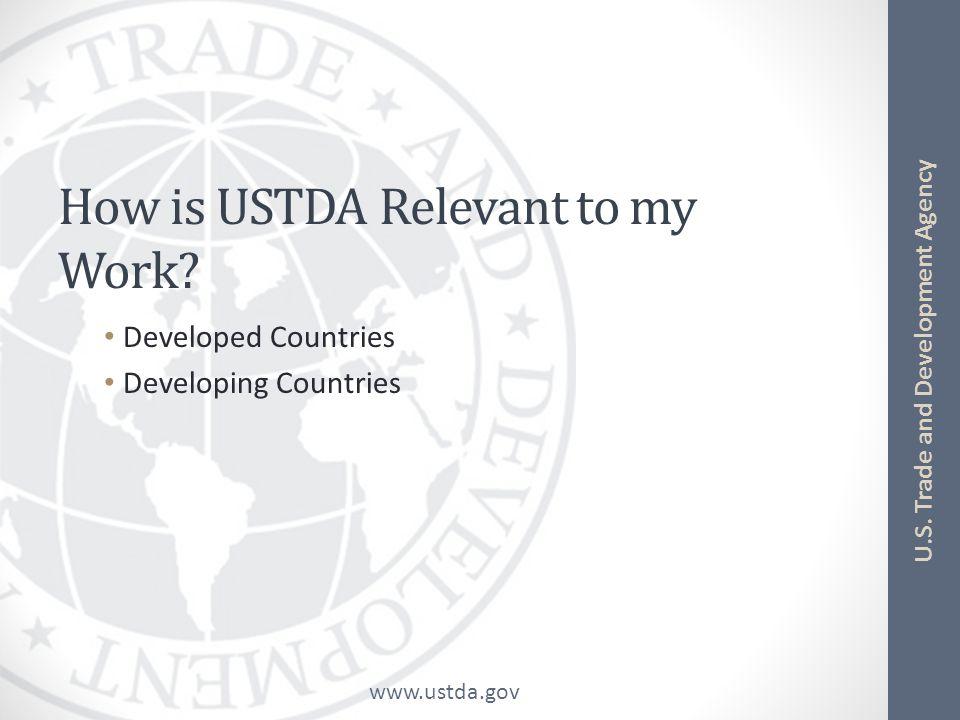 www.ustda.gov U.S.Trade and Development Agency How Can U.S.
