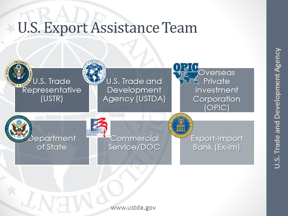 www.ustda.gov U.S. Trade and Development Agency U.S. Export Finance Agencies