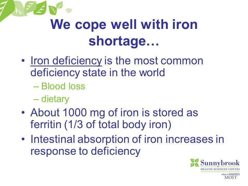 …but poorly with iron excess.