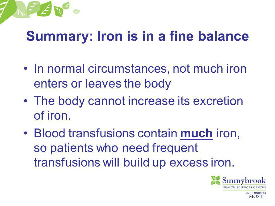 Iron chelation Out