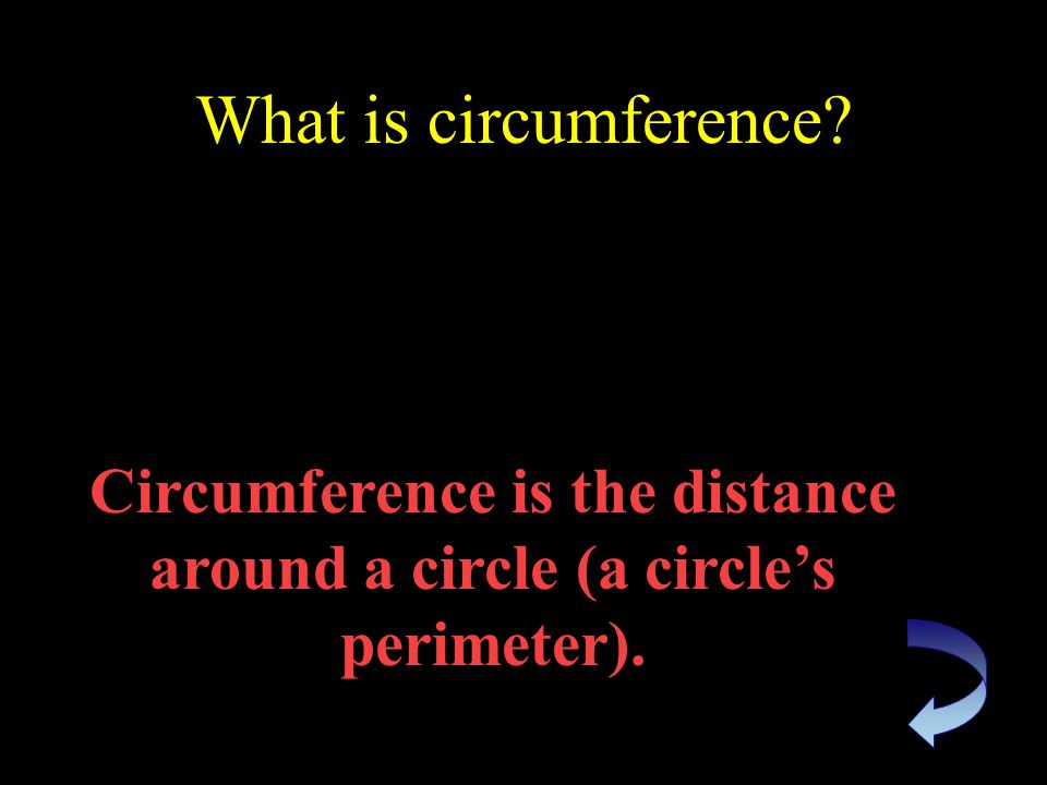 What is the formula for finding the circumference of a circle C = π x d or C = 2 x r x π