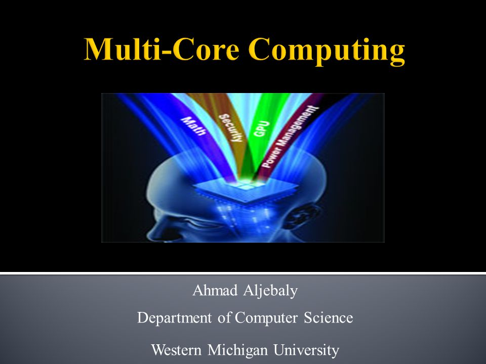 Ahmad Aljebaly Department of Computer Science Western Michigan University