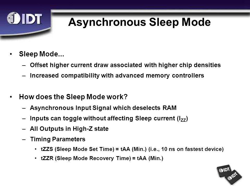Asynchronous Sleep Mode Sleep Mode...
