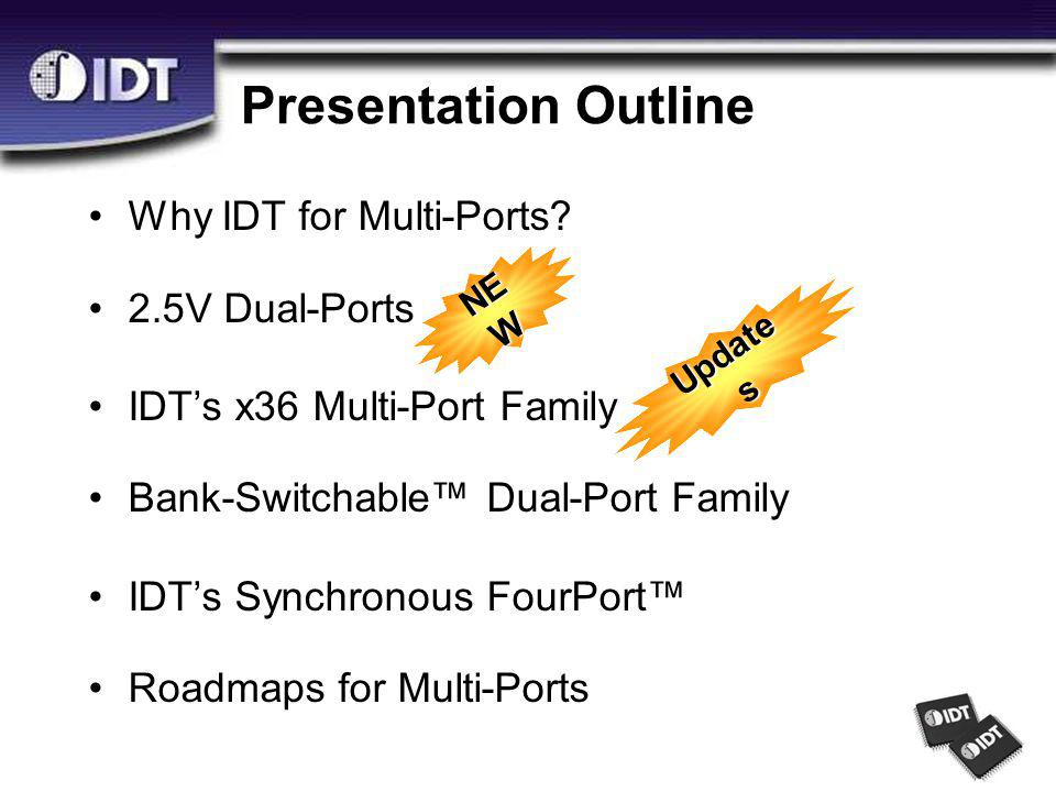 Presentation Outline Why IDT for Multi-Ports.