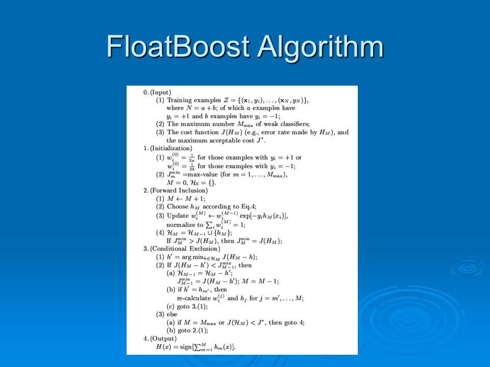 FloatBoost Algorithm