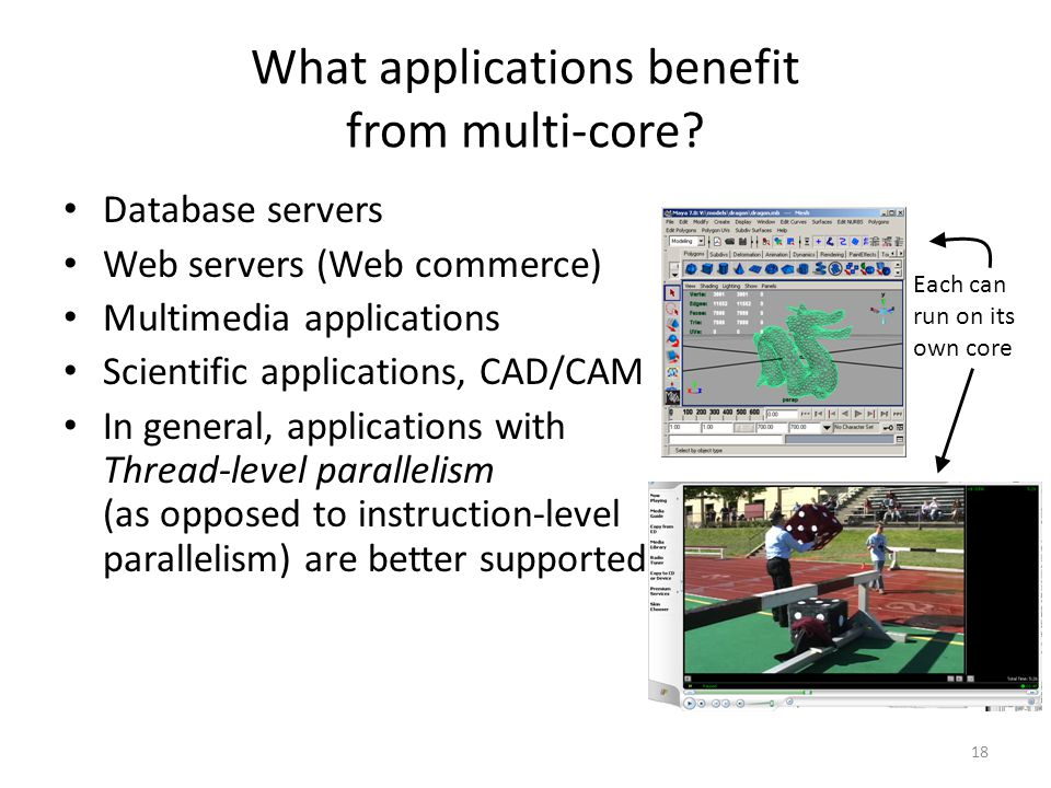18 What applications benefit from multi-core.