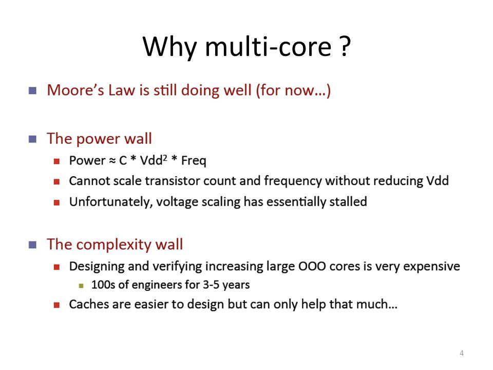 4 Why multi-core