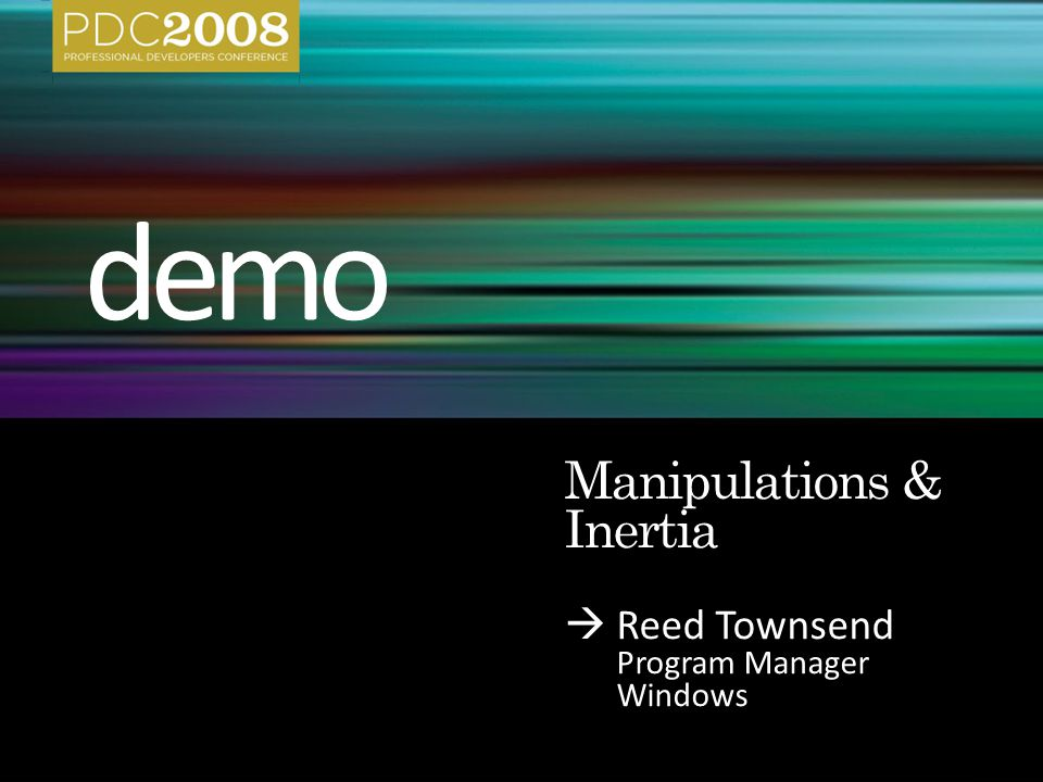  Reed Townsend Program Manager Windows